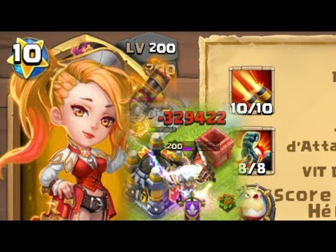 Castle Clash - Rose Mortelle Maxé De Nylou, Gameplay Complet