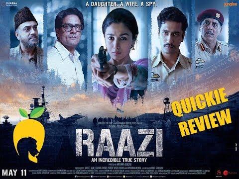 Raazi - Is it a theatre movie?
