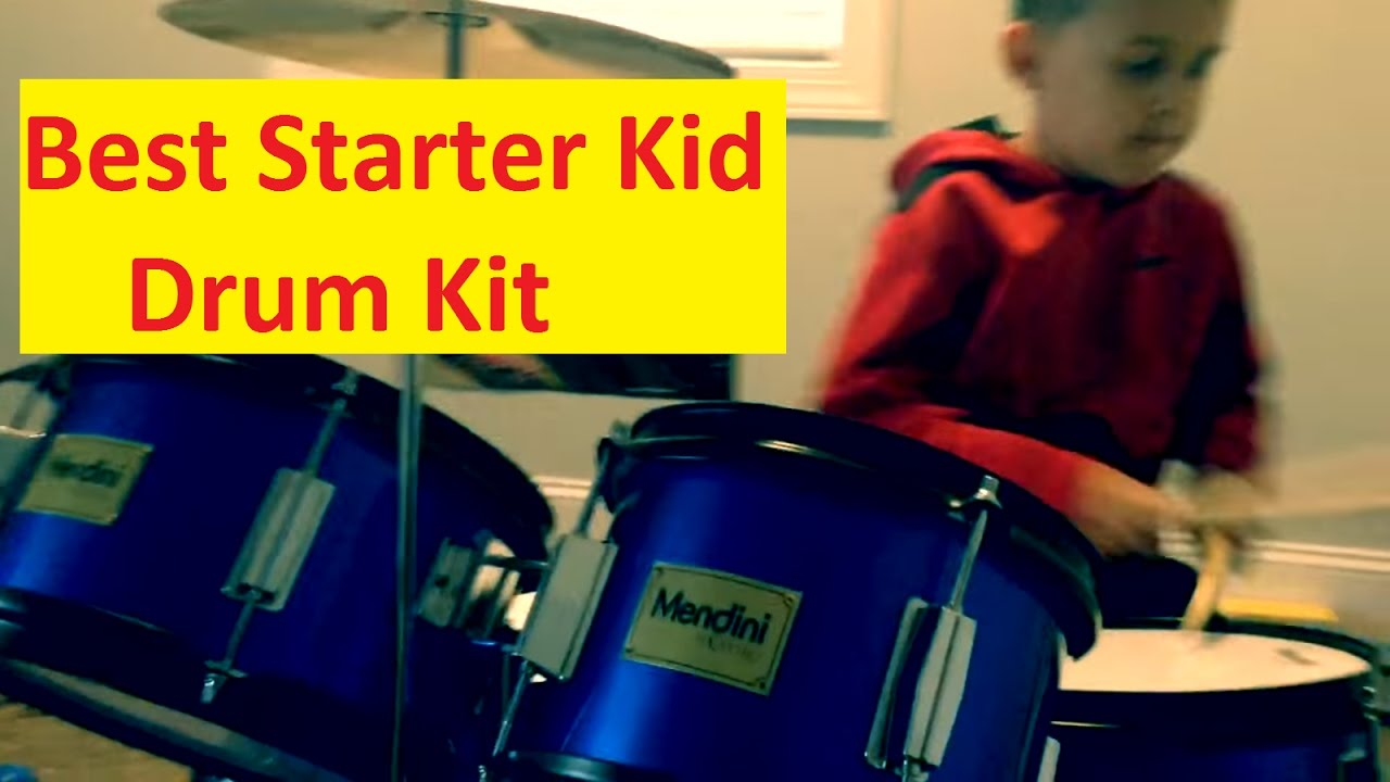 Skyman Playing Drums 6yr Old Mendini Cecilio Best Drum Kit For Kids