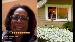 Oprah Locks Stedman In The Guest House Due To CoronaVirus