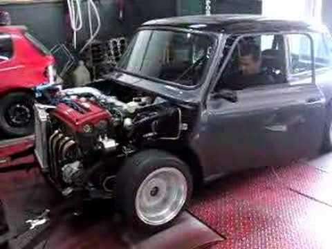 16v Honda Vtec Mini Cooper On Dyno Youtube