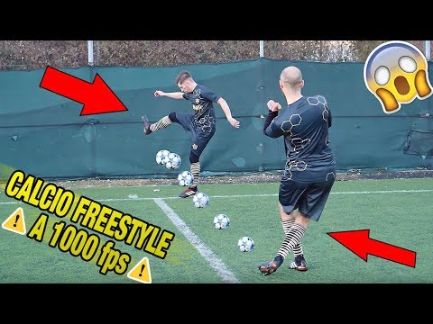 Download Youtube: COLPIRE DIGINHO a 1000 fps - Calcio Freestyle in SLOW MOTION