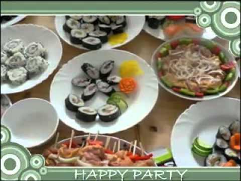 Video tư vấn  Trang trí bàn tiệc sushi  dinhduong