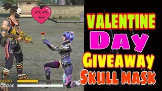 Skull 💀 Mask Giveaway on Valentine's Day - Garena Free Fire