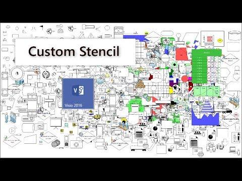 Create a Custom Stencil in Microsoft Visio - YouTube