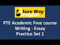 PTE Write Essay Practice Questions with Answers | PTE Writing Test | High Score Practice