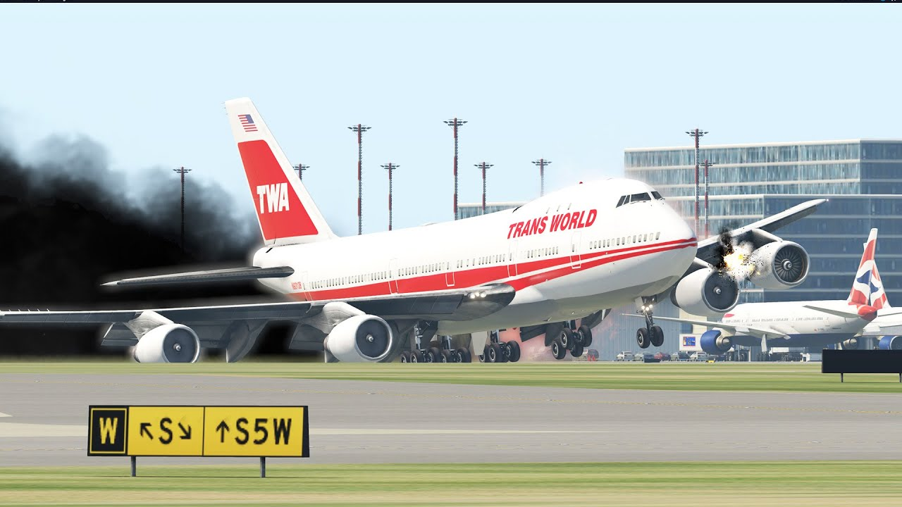 Worst Boeing 747- 400 Emergency Landing Ever By Training Pilots In Xplane 11