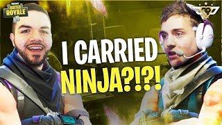 I CARRIED NINJA?!?! (Fortnite: Battle Royale)