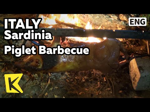 【K】Italy Travel-Sardinia[이탈리아 여행-사르데냐]2시간 기다려야 완성! 새끼돼지 통구이/Pig/Piglet Barbecue/Porceddu/Sardegna