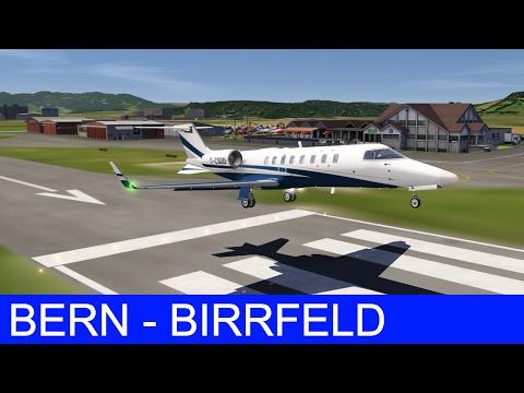 Aerofly 2 Flight Simulator | Learjet 45 - Bern to Birrfeld [Beautiful Landscape]