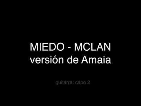 Miedo - MCLAN (karaoke)