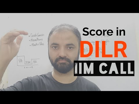 Get IIM Call in DILR. Minimum score and strategy