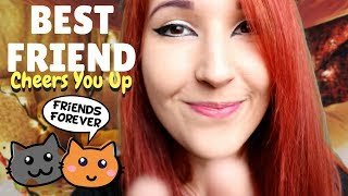 ASMR - CARING FRIEND ~ Helping You Calm Down + Fall Asleep   Face Touching   Positive Affirmations ~