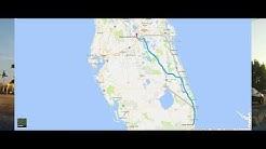 Driving from Boca Raton to Orlando, Florida - Disney World