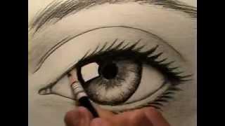 Artes desenhando um olho thumbnail