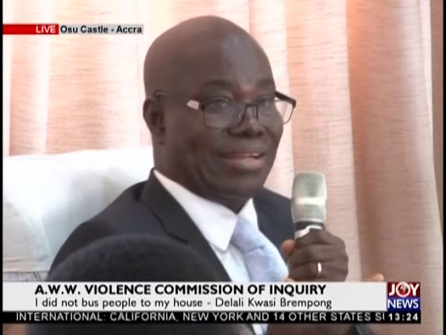 A.W.W. Violence Commission of Inquiry; Delali Kwasi Brempong gives testimony (20-2-19)