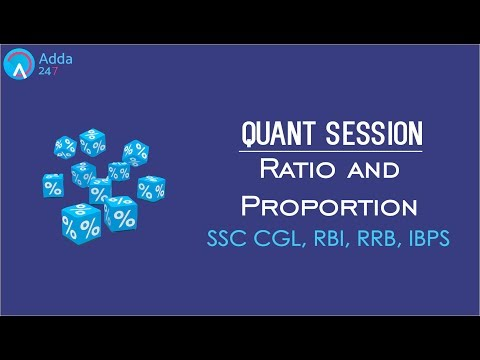 SSC CGL, RBI, RRB, IBPS | Ratio and Proportion | Maths | Online Coaching For SSC, IBPS, BANK PO, SBI