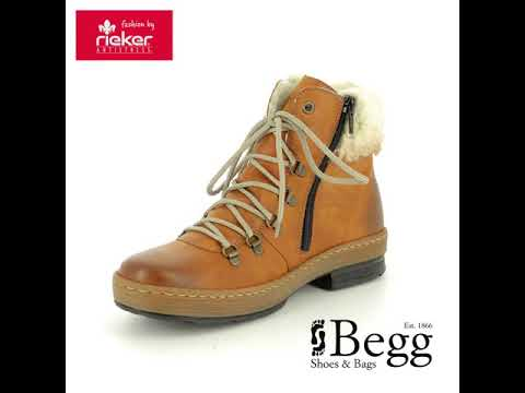 f66d985c6f30a7 Rieker Z6743-24 Tan ankle boots - YouTube