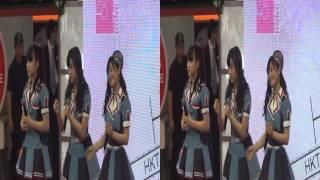 [3D] 村重杏奈、田島芽瑠、本村碧唯 @ HKT 48 Fans Meeting In Hong Kon...