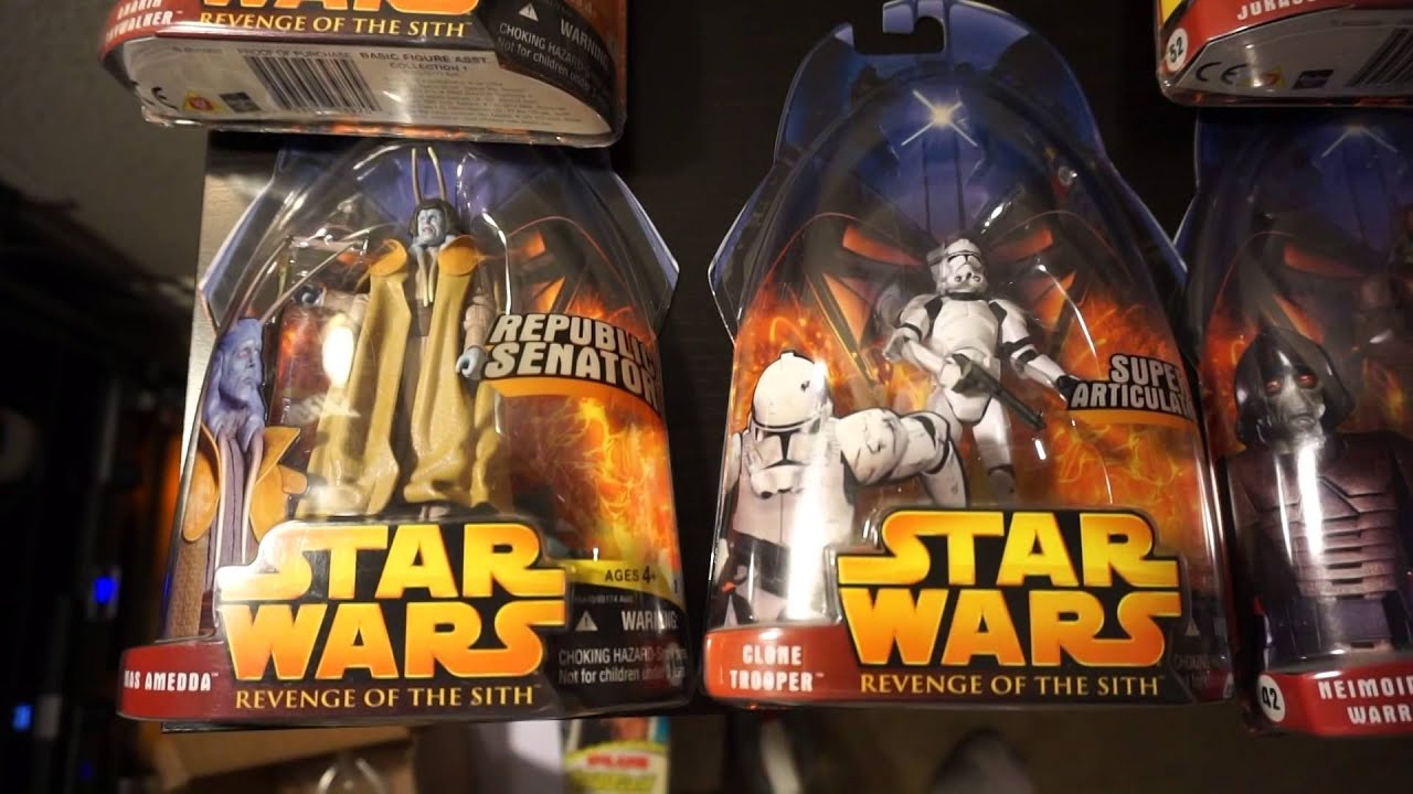 Star Wars Revenge Of The Sith Action Figures Youtube
