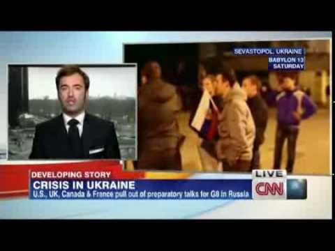 Peter Zalmayev (Залмаев) re annexation of Crimea. CNN International, March 2 2014