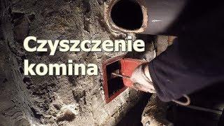 Ile sadzy w kominie po jednym sezonie palenia, czyszczenie komina/chimney cleaning from the bottom