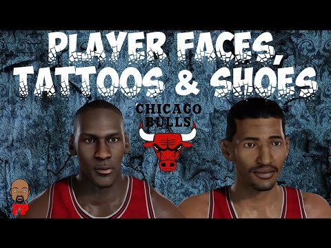 NBA 2K17 - 1985-86 Chicago Bulls - Player Faces, Tattoos and Shoes