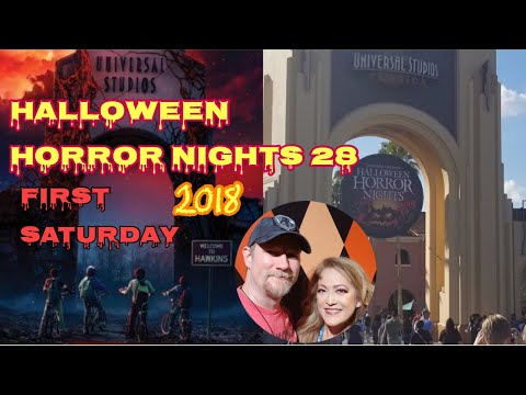 ????LIVE.First Saturday of Halloween Horror Nights 28. Universal Orlando Resort.