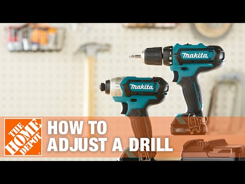 How To Adjust a Drill | The Home Depot - YouTube