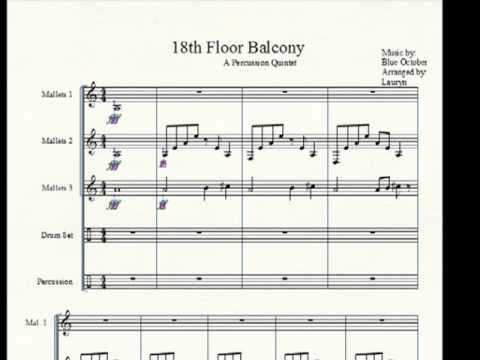 18th floor balcony blue october percussion ensemble for 18th floor balcony cover