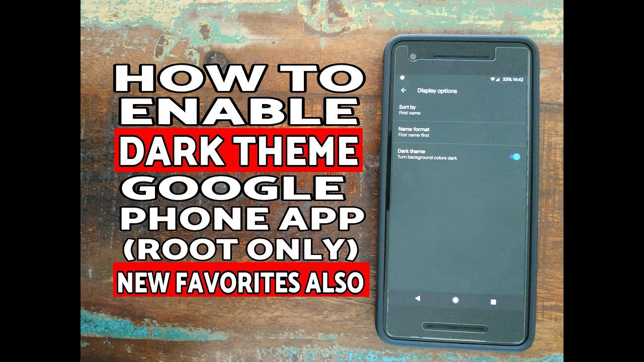 How to Enable Dark Theme Google Phone App (New Favorites Also)
