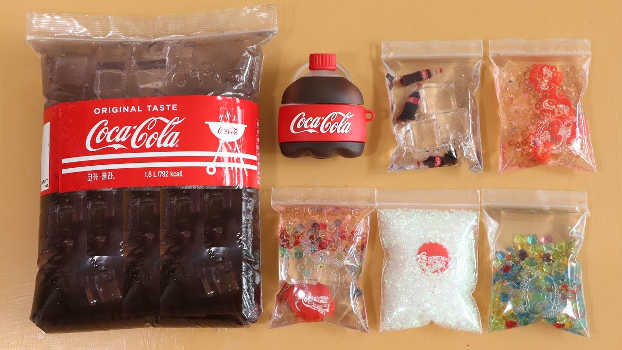Making Big Coca Cola Slime with Bags! Most Satisfying Slime Video★ASMR★#ASMR#PipingBags