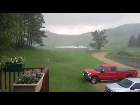 2 FUNNEL CLOUDS CAUGHT ON CAMERA AND SEVERE THUNDERSTORM!!!!!!!!!!