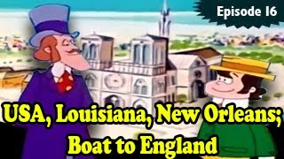 USA, Louisiana, New Orleans; boat to England - Around The World In 80 Days Episode 16