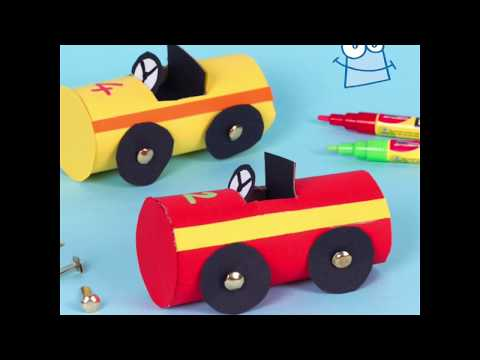 How to make Cardboard Tube Racers | Cardboard Tube Crafts