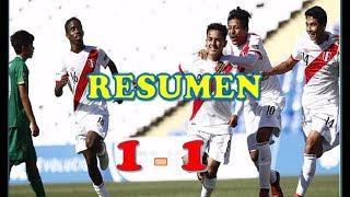 PERU VS ECUADOR 1 - 1   |RESUMEN SUDAMERICANO SUB 15 2017