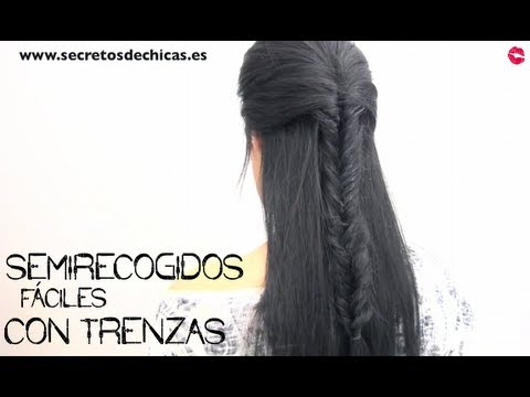 Semirecogidos f ciles con trenzas youtube - Semirecogidos con trenzas ...