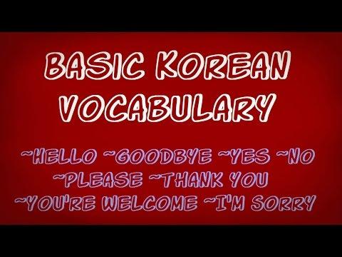 Basic Korean Vocabulary