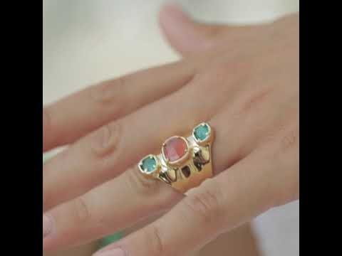 Cat eye stone ring  AAN427 video