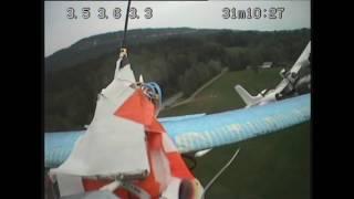 FPV TwinStar vs EasyStar attack and crash