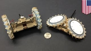 NASA PUFFER scout bot  NASA develops origami inspired robot to go with large rovers