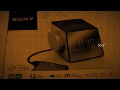sony icfc1pj alarm clock radio youtube. Black Bedroom Furniture Sets. Home Design Ideas