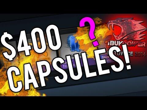 OPENING THE $400 CS:GO CAPSULES..