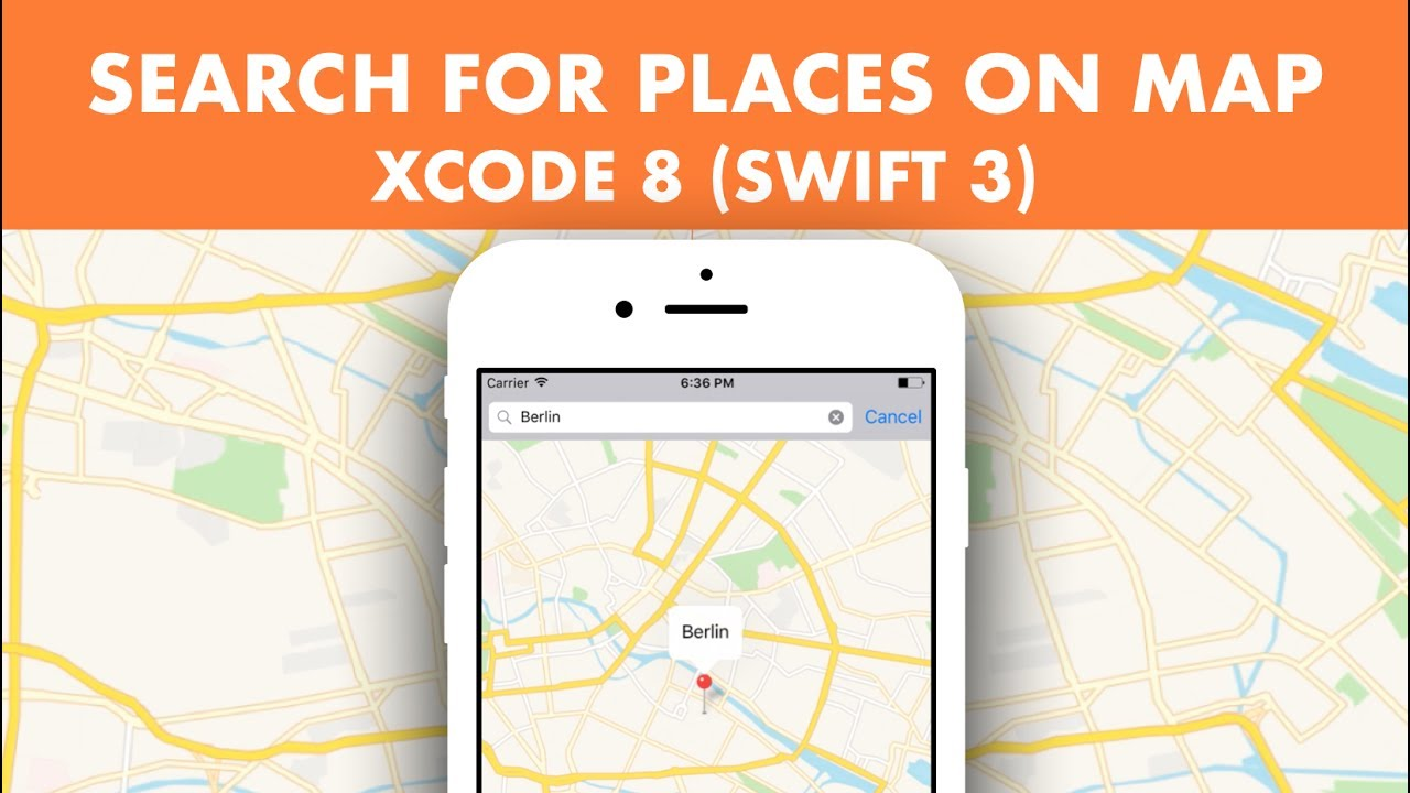 How To Search For Places In MapView Using MapKit In Xcode 8