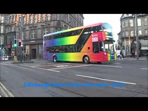 ANWP On The Roads  Edinburgh Buses Early Decemeber 2019
