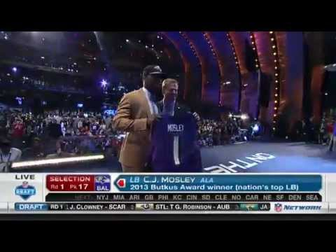 Ravens Select C.J. Mosley With No. 17 Pick in First Round of NFL Draft