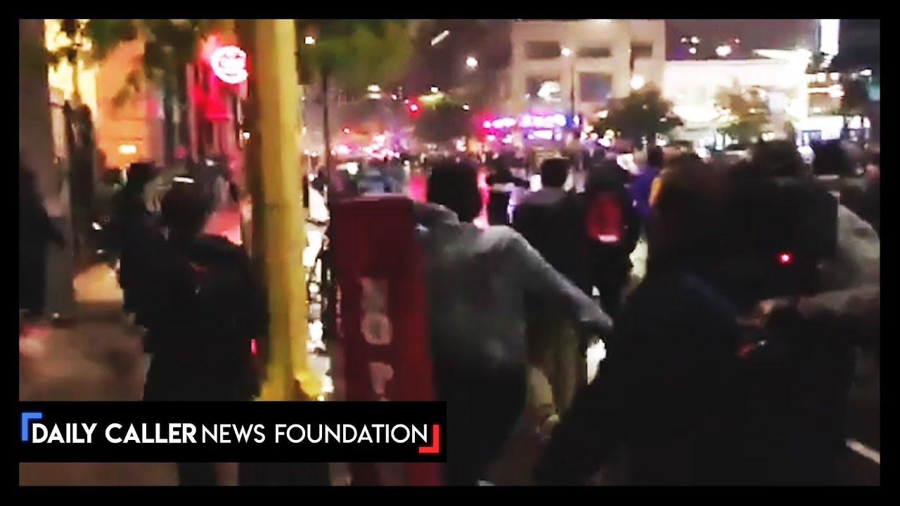 DC Shorts Protesters Attack Trump Supporter Leaving Rally