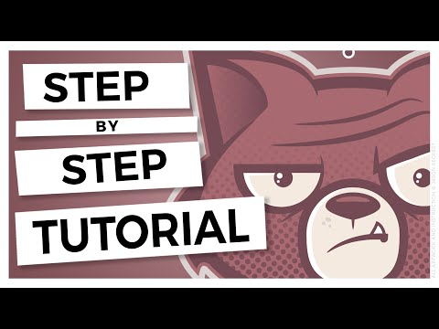 Adobe Illustrator CC Beginner Tutorial: Sad Cat
