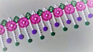 Simple Border Rangoli Design Using Bangle