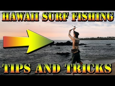 How To Surf Fish In Hawaii - Using A Whipping Rig Tutorial - Braddahs Shore Fishing Tips & Tricks